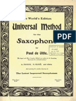 Universal Method for Saxophone by Paul de Ville