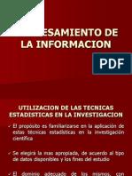 Utilizacion de Las Tecnicas Estadisticas en La Investigacion