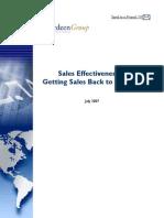 Aberdeen Sales Effectiveness Study
