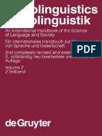Sociolinguistics. an International Handbook of the Science of Language and Society de Gruyter