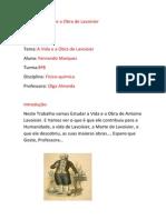A Vida e a Obra de Lavoisier