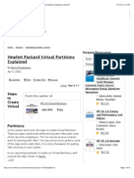 Steps to Create Virtual Partitions | Hewlett Packard Virtual Partitions Explained | InformIT