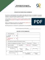 ENCUESTA AcadémicosDiferencialcon adecuaciones