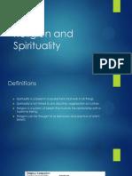 Religion and Spirituality