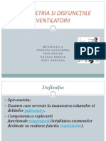 Spirometria Si Disfunctiile Ventilatorii