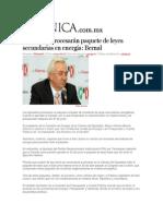 16-06-2014 Crónica.com.mx - Diputados procesarán paquete de leyes secundarias en energía, Bernal.