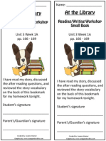 3 1a bookmark  at the library