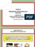 Charla Requisitos Legales SySO Guía RUC 2011 - AV