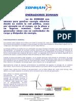 Aerogeneradores ZONHAN