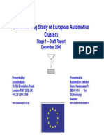 Benchmarking Study of European Automotive Clusters