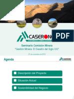1 - Proyecto Caserones - R Lopez - Gte Minera Caserones