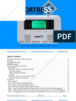 GSM Alarm System Manual v001