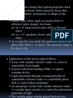 Introduction to Electro-Optics