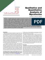 Qualitative and Quantitative Analysis of Mycotoxins