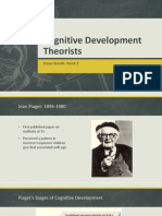 cognitive development theorists-week 2