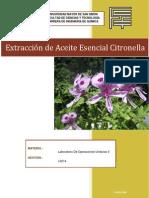Extraccion de Aceite Esencial de Citronella