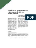 Cambio No Brasil - Evolução