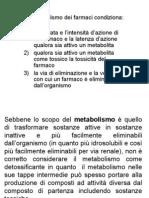 6. Metabolismo dei farmaci