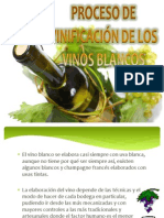 Proceso de Vinificación de Los Vinos Blancos