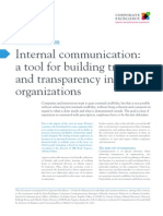 I34 Internal Communication a Tool for Building Trust and Transparency in Organizations