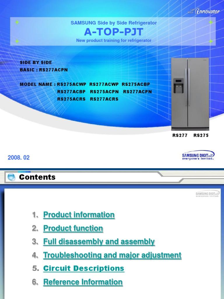 Samsung RS275-RS277 - Refrigerator Training | Refrigerator | Direct ...