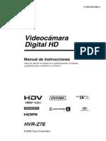 Camara Sony HVR-Z7 Español
