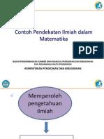 2.1.2 Contoh Pendekatan Ilmiah Matematika
