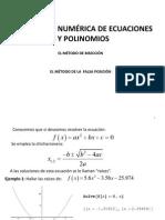 [Metodos Numéricos] Diapositivas El Método de Bisección_Falsa Posición_FF