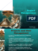 Projects and Their Management