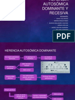 Herencia Autosómica Dominante y Recesiva