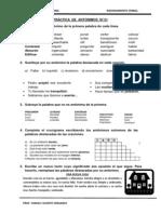 Práctica de Antónimos (Secundaria)