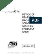 ARI575 - Measuring Machinary Sound