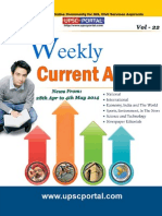 Weekly Current Affairs Update for IAS Exam Vol 22 28th April 2014 to 4th May 2014