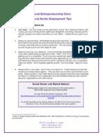 Employment Tips for Social Entrepreneurs