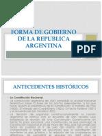11 El Sistema de Gobierno de La Republica Argentina