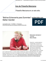 """Bolívar Echevarría Para Dummies""_ Entrevista Con Stefan Gandler _ Círculo de Estudios de Filosofía Mexicana"
