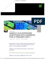 GOOD-Sample VLSI Interview Questions With Answers for a Fresher Part-1 - Technology@Tdzire