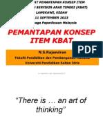 Prof Rajendran LembagaPeperiksaanMalaysiaWorkshopThinkingSkillsSept2013