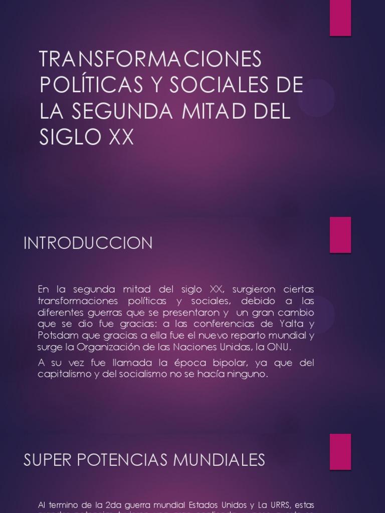 2fb0e0c5de Transformaciones Políticas y Sociales de La Segunda Mitad