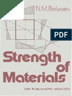 Resistencia de Materiales- N. M. Belyaev- Strength of Materials- Mir