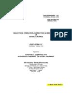 Maintenanceof DG OISD STD 127 PDF
