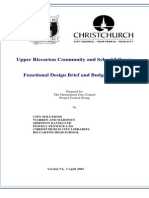 Functional Design Brief and Budget Report