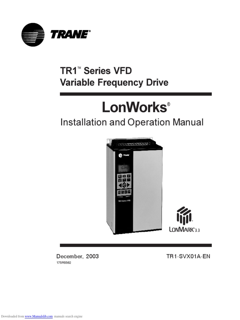 lonworks tr1 series vfd electrical connector