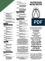 AA Meeting List 2014