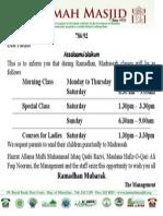 Madrassah Ramadhan Poster