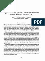 Appeals in Jewish Courts in Palestine