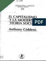 d) MARX - El Capitalismo Y La Moderna Teoria Social