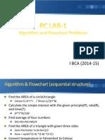 PC Lab_I Algorithm and Flowchart Problems