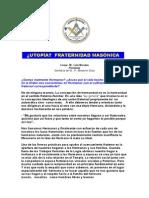 Plancha n.00682 - Utopia Fraternidad Masonica