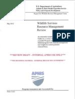 USDA Wildlife Services - Program Assessment & Accountability 2012